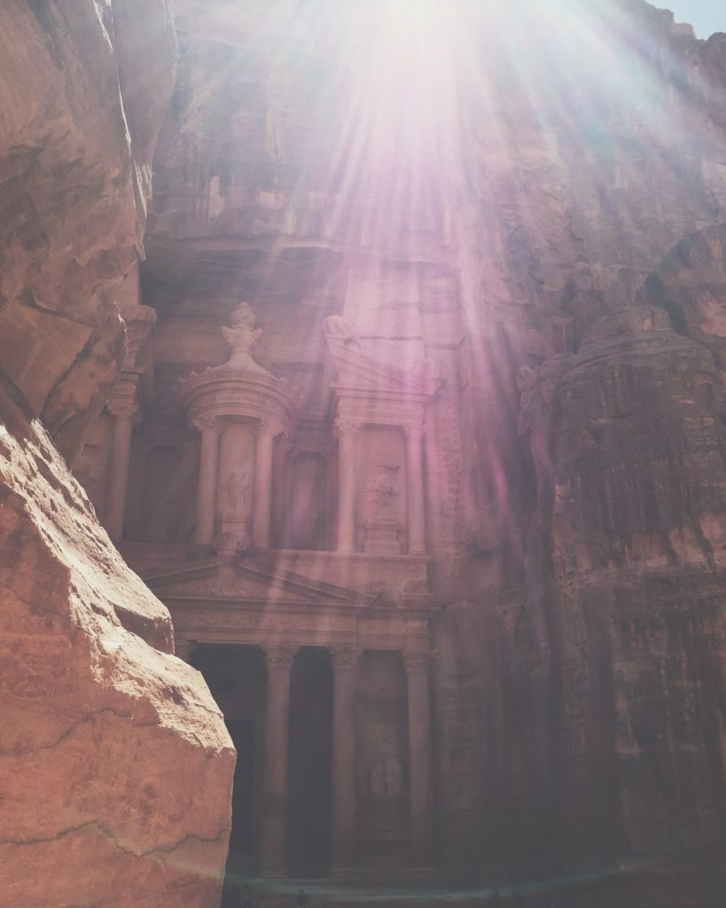 The Treasury (el-Khazneh) at Petra (Photo by E. Jones)